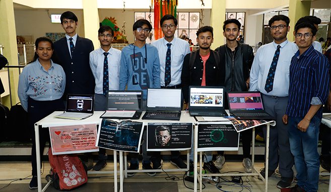 Students of School of Computer Science and Engineering at Poornima University