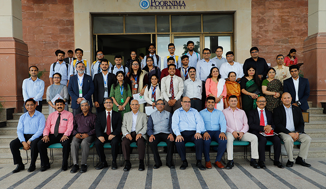 Students of School of planning and architecture at Poornima University