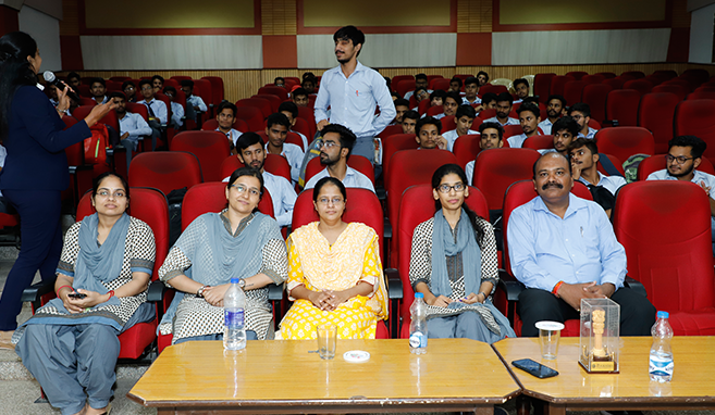 Students of School of science and humanities at Poornima University