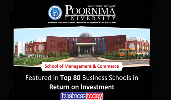 Students of School of mangement and commerce at Poornima University